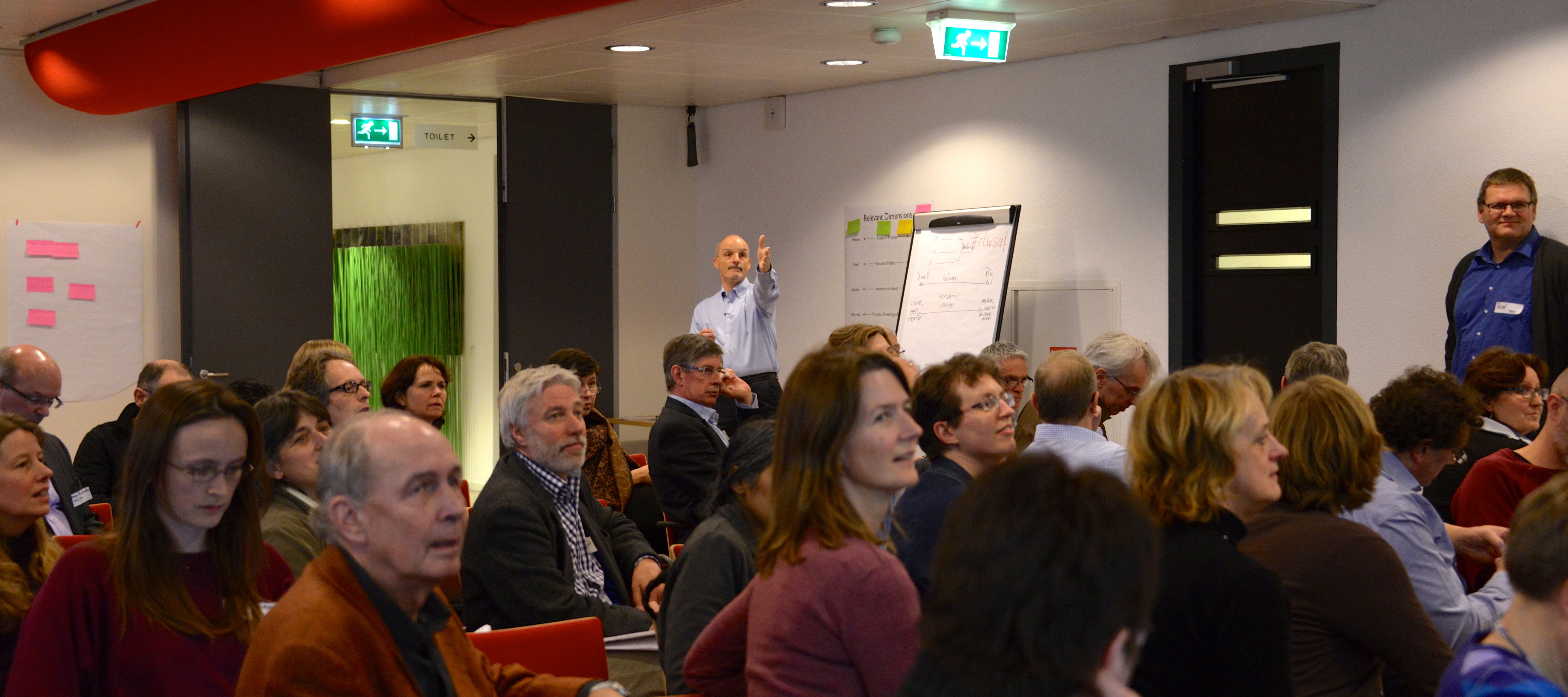 Andrew Treloar (at the back) captivating his audience